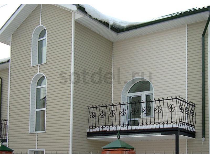 Облицовка фасада дома виниловым сайдингом Docke