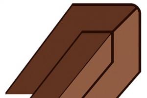 WF Угловая накладка Деке (пломбир, шоколад)