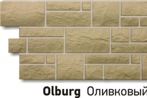 Панель «Burg» под камень, цвет оливковый