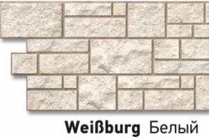 Панель «Burg» под камень, цвет белый
