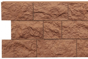 Панель «Fels» под природную скальную породу, цвет терракотовый