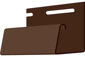 Фасадный J-профиль 30 мм, цвет жженый Деке
